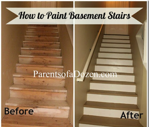 Painted basement stairs car tuning