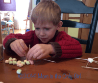 Mini marshmallow education for preschoolers at https://www.momistheonlygirl.com