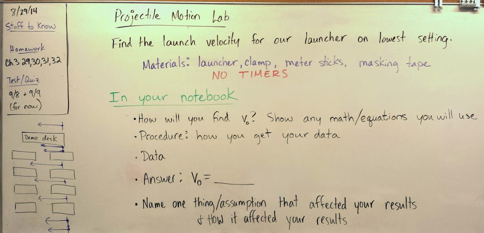 Volkening S Physics Classes Projectile Motion Lab