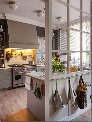 Cucine e pareti vetrate  Case e Interni