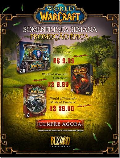 Promoção: World of Warcraft desconto de até 75%