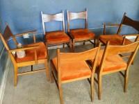 Vintage Ground: Set of Six Mid Century Lane Tuxedo Dining ...