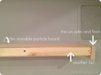 Building DIY wood floating shelves from Thrifty Decor Chick