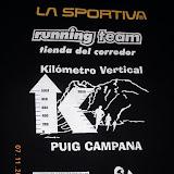 3º Kilómetro Vertical del Puig Campana (7-Noviembre-2010)