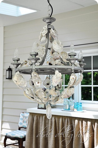Oyster Shell Chandelier Porch Projects