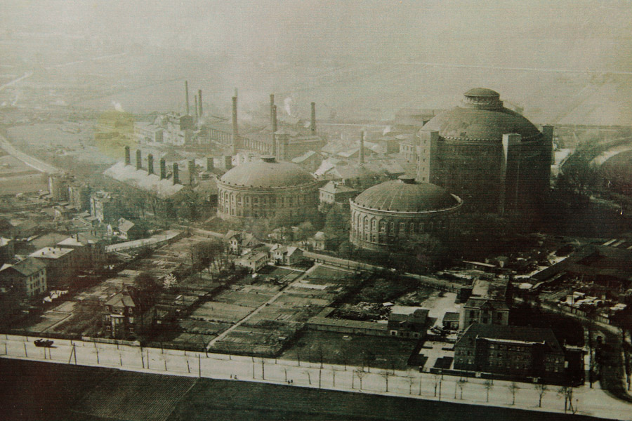 Дрезденский газовый завод в 1920 году  (фото: инфостенд Drewag)