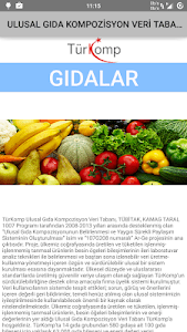 Gıda Bileşeni ve Enerji Değeri screenshot 0