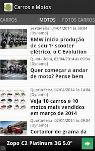 Carros e motos - Notícias screenshot 1