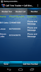 Call Time Tracker+Call Blocker screenshot 5