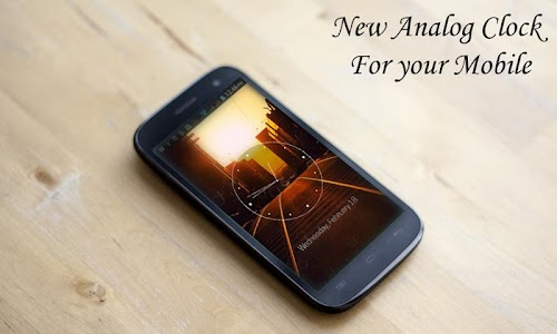 Sunset City HD Analog Clock screenshot 0