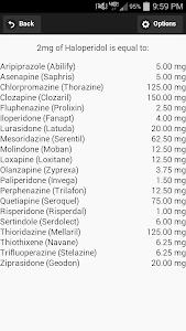 AntiPsychotic Dose Converter screenshot 2