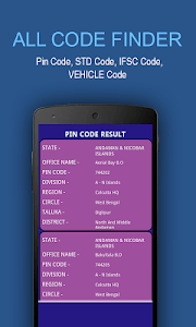 All Code Finder - India screenshot 1
