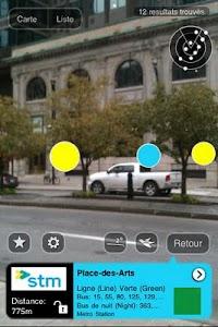 Montreal Metro AR screenshot 1