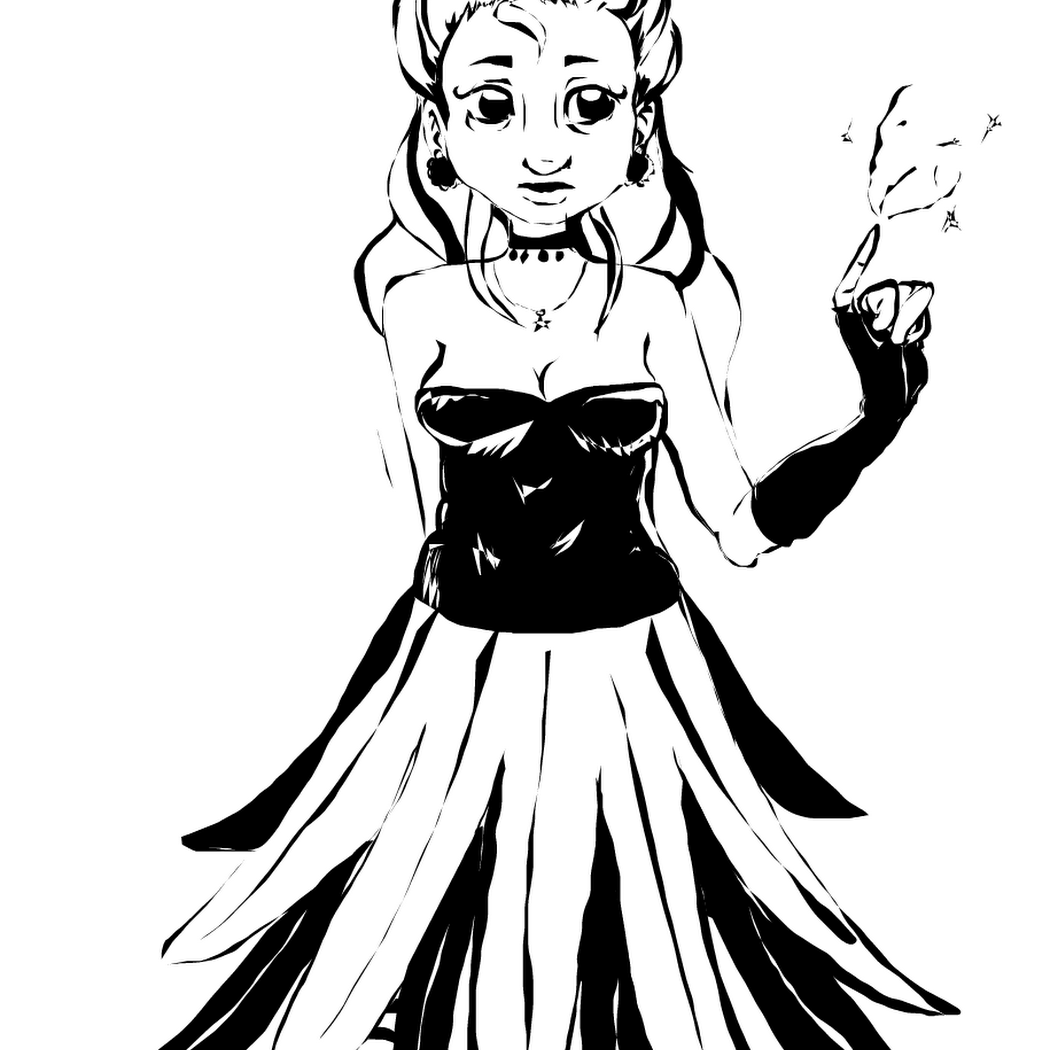 Flower girl » drawings » SketchPort