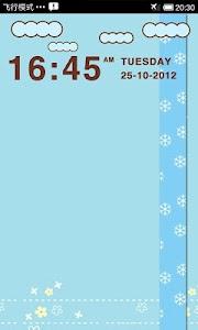 LiveCloud Clock Widget screenshot 1