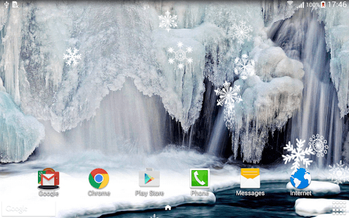 Free Snow Falling Animated Wallpaper Winter Waterfalls Wallpaper Apps On Google Play