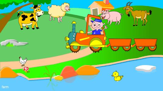 Kids Animal Game-Zoo TrainFULL screenshot 0