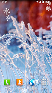 Wallpaper Phone Falling Snowflakes Winter Flowers Live Wallpaper Apps On Google Play