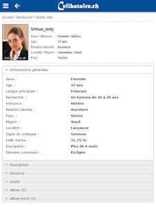 Rencontres Celibataire.ch screenshot 2
