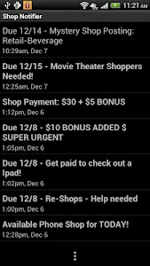Shop Notifier screenshot 0
