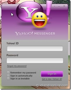 yahoo Messenger for Vista log in