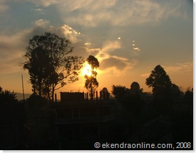 sunrise as seen from my home
