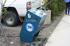 Bear-resistant trash can in Juneau, Alaska