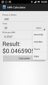 kWh Calculator Free screenshot 0
