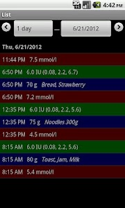 DiaLog: Diabetes Logbook screenshot 4