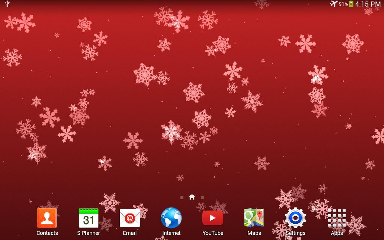 Christmas Falling Snow Wallpaper Note 3 Snowflake Live Wp Android Apps On Google Play