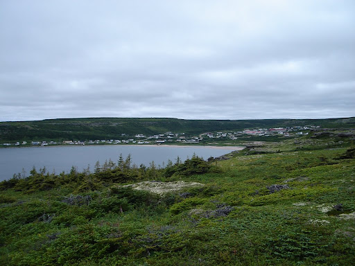 L'Anse au Claire seen from a hilltop