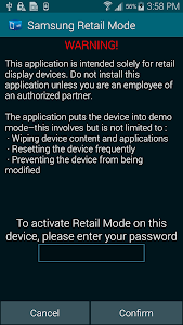 SAMSUNG RETAIL MODE LITE screenshot 0