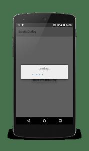 Spots dialog demo screenshot 0