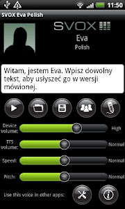 SVOX Polish/Polska Eva Voice screenshot 0