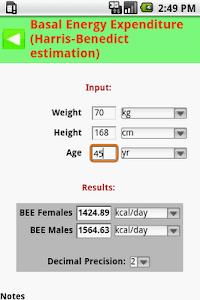 MedCalc 3000 Nutrition screenshot 2