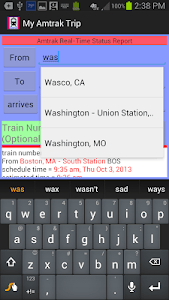 My Amtrak Trip screenshot 1