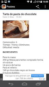 Recetas de cocina screenshot 0