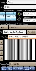 Tess. Sanitaria Codice Fiscale screenshot 5