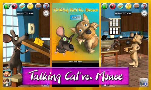 Talking Cat Vs. Mouse Deluxe screenshot 0