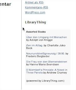 Alternatives LibraryThing Widget