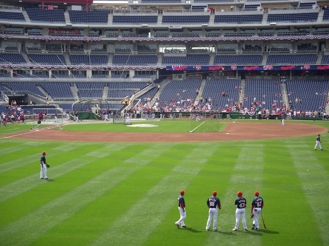 Outfield during Batting Practice