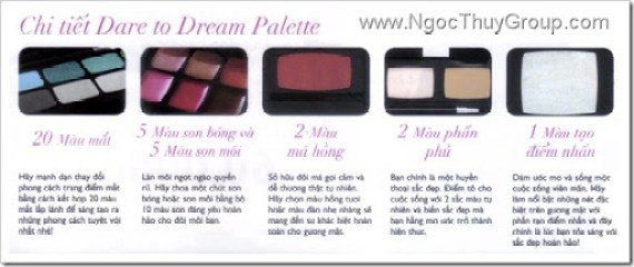 Ultimate DareToDream Make-up Pallete - Details