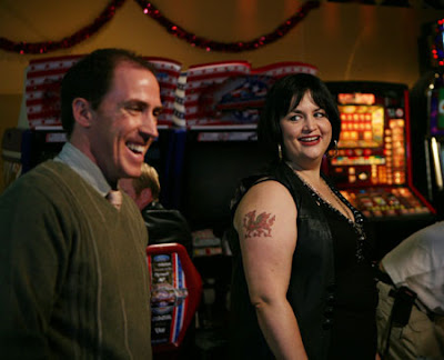 Rob Brydon as Bryn and Ruth Jones as Nessa