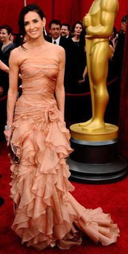 Demi Moore in Atelier Versace at the Oscars