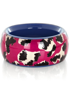 Designer Into the Wild Animal Print Resin Bangle by Marc by Marc Jacobs Pink at Net-A-Porter
