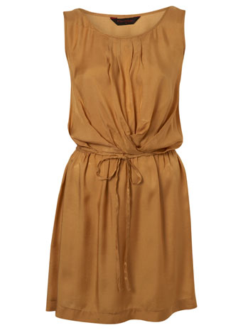 Camel Casual Pintuck Dress by Miss Selfridge