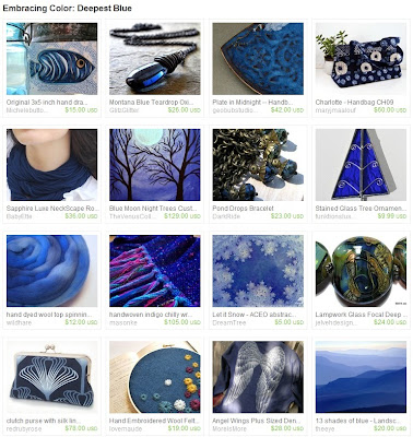 Deepest Blue Etsy Treasury