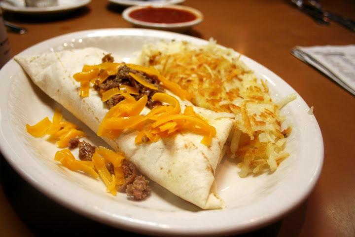 Breakfast Burrito & Hashbrowns
