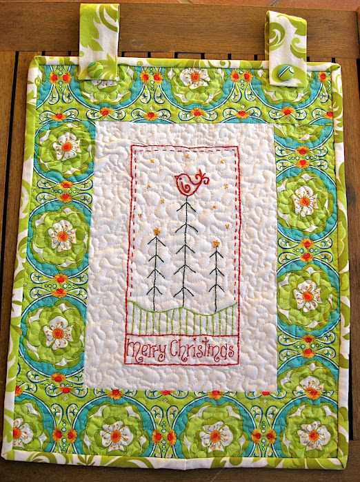 Christmas embroidery wallhanging