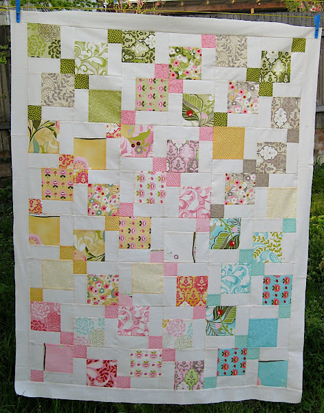 Moda Hunky Dory Charm Pack Quilt Using Disappearing 9 Patch Quilt